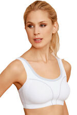 Susa Full Figure *High Support* Non-wired Sports Bra 7897 White / Grey