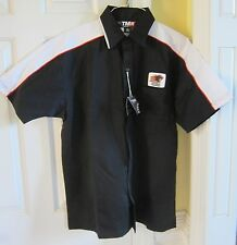New Black w/ White Trim Tri Mountain Racewear Panther Graphics Indy 500 Shirt L
