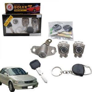 Fit Toyota Corolla Sedan Solex Door Lock Security Safety Key Cylinder 96-00