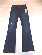 new Women's DYLAN GEORGE alexandra flare Jeans size 27 distressed denim low rise