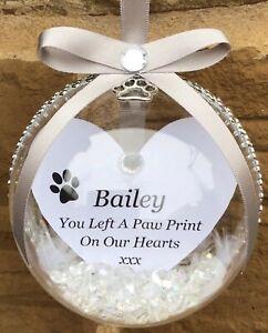 Personalised Pet Memory Bauble, Personalised Christmas Bauble,