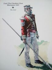 MILITARY POSTCARD-  THE 22ND-THE CHESHIRE FOOT BHURTPORE 1805