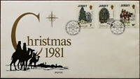 Jersey Christmas 1981 First Day Cover + Insert