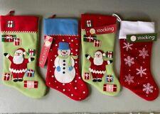 "Set of 4 Martha Stewart Christmas Stocking, 18"" Tall, Holiday"