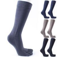 Men'S Cotton Long Five Fingers Socks Cotton Breathable Deodorant Toe Socks