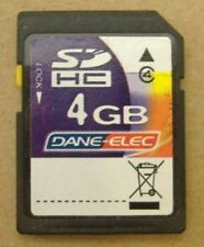Dane Elec 4 GB SD HC SDHC Class 4 Speed SD-K04G Memory Card