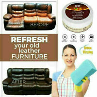 Leather Cleaner Restorer Conditioner Cream For Car Seat Sofa Chair Bag Wallets