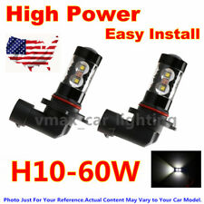 2x 60W Fog Lights Led Light Bulbs Replacement Bulb For Cars Dodge Ram 1500 2500