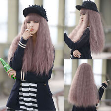 Women's Lolita Long Rhapsody Curly Wavy Full Wig Hair Cosplay Taro Purple Wigs