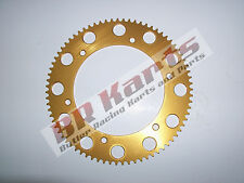 75 Tooth #219 Chain Gold Solid Sprocket - Mini Bike & Go Kart Racing Parts