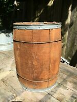 Vintage rustic vintage primitive nail keg barrel farm decor Lg Size 18in tall