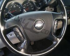 (07-13) Silverado Tahoe FULL Carbon Fiber Steering Wheel Spoke Overlay Decal