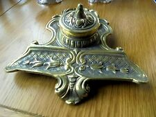 Lovely Antique Brass Inkstand
