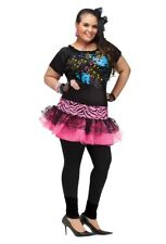 80's 80s Pop Party Cyndi Lauper Madonna Plus Size Adult Costume, 16W-20W