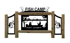 PERSONALIZED FISHERMAN SIGN - FISHING - OUTDOOR SIGNS - FISH HOOKS - CATFISH