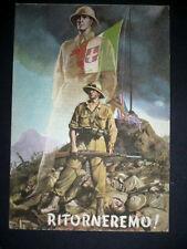 1942 BOCCASILE RITORNEREMO! Cartolina in franchigia militare viaggiata -Fascismo