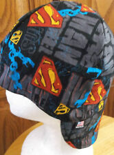 Superman Man steel Handmade 100% cotton, Welding, Biker, pipefitter,4 panel hat