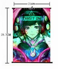 """Hot Anime Blizzard Game Overwatch D.VA Home Decor Poster Wall Scroll 8""""×12"""" 01"""