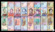 VENEZUELA 2-500 BOLIVARES 2018 SET OF 8 BANKNOTES UNC