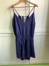 Dorothy Perkins navy lace playsuit Size Large