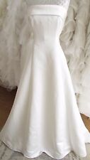 Margaret Lee ivory simple wedding dress Uk 12/14