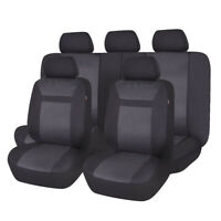 universal Car Seat Covers set Black washable Polyester Fit For truck Suv Van