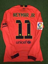 Barcelona Neymar 2014-2015 Match Un Worn / Prepared For Match Lfp