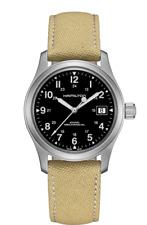 New Hamilton Khaki Field Mechanical Black Dial Canvas Band Men's Watch H69439933