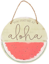 Tropical Hawaiian Wooden Hanging Sign Plaque Sentiment Chic Home Gift Decoration