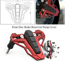 Motorcycle Front Disc Brake Reservoir Pump Cover Accessory Alloy Red+Black Style