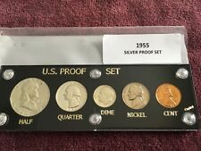 Capital Holder For 1963 US Proof Set Display Coin Case Cent Half White Plastic