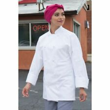 White 100% Cotton Chef Coat with Knots by Uncommon Threads Small Nwt