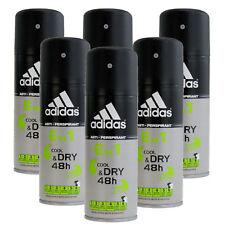 6 x150ml Adidas 6in1 Cool and Dry 48H Deo Deospray Herren Deodorant Bodyspray