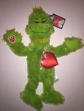 Build a Bear Grinch Plush Doll How Stole Christmas Dr Suess Heart Unstuffed