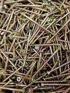 100 KIT TORX STAINLESS STEEL CSK WOOD SCREWS SCREW A2 TX20 L KEY /& T20 HEX BIT