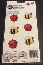 Wilton Bumble Bee and Lady Bug lolli-pop Candy Mold #2115-0160 6 cavity