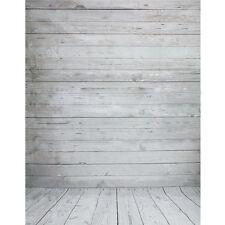 3 1,5m Vinyl weiß Holz Wand Boden Hintergrund Fotografie Fotostudio Requisiten