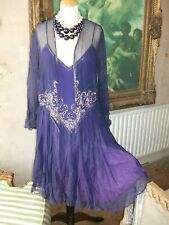 Ladies Unusual Purple Beaded 2 piece dress suit