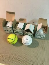 lot of 5 softballs 4 Dudley new 1 Champro used