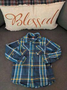 Boys Tea Collection Blue Flannel Size 5T
