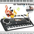 Keyboard E-Piano Klavier Elektrische Kinder Klaviertastatur Digital 61 Tasten DE