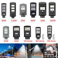 20/40/60/90W LED Lampe Solaire Projecteur Capteur de Mouvement Lampadaire +Remo