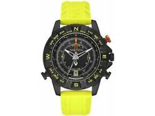 Nautica Men's NAD21000G NSR 103 Black  Watch with Textured Yellow band