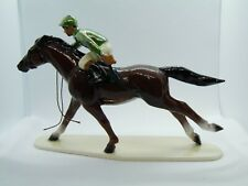 Hagen Renaker Horse Race Horse Jockey Green Silks Figurine Miniature New 3297