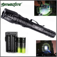 con zoom 12000lm 5 MODOS xmlt6 LINTERNA FLASH LED Lámpara + 2 18650 + Cargador
