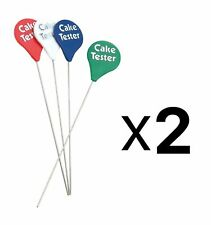 Cake Tester SET 2 NEW WITH TAGS Probe Skewer Cupcake Muffin Baking Bread Dough