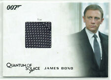 James Bond Archives 2009 Costume Card QC25 Bond's Tie 181/250 Quantum of Solace