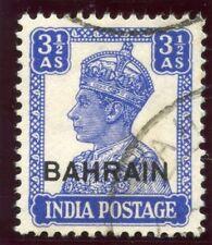 Bahrain 1942 KGVI 3½a bright blue very fine used. SG 46. Sc 47.