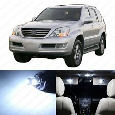 13 x Xenon White LED Interior Lights Package For 2003 - 2009 Lexus GX470