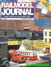 RailModel Journal Apr 90 Balsa Wood Double Stack Container Car EMD SD9 Southern